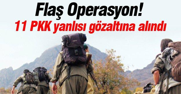 11 PKK yanlısı gözaltına alındı