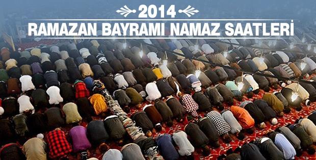 2014 Ramazan Bayramı namaz saatleri