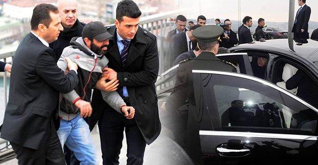 Erdoğan Boğaziçi Köprüsü'nde bir intiharı önledi