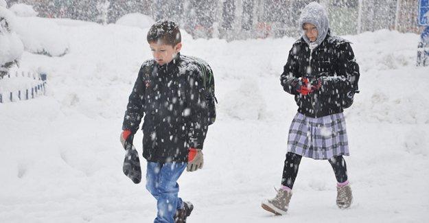 Kar yağışı başladı: Okullar tatil edildi!
