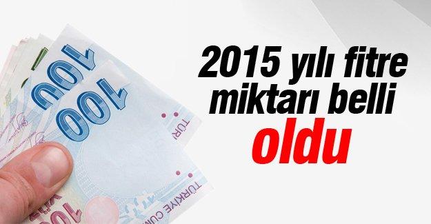 2015 yılı fitre miktarı belli oldu