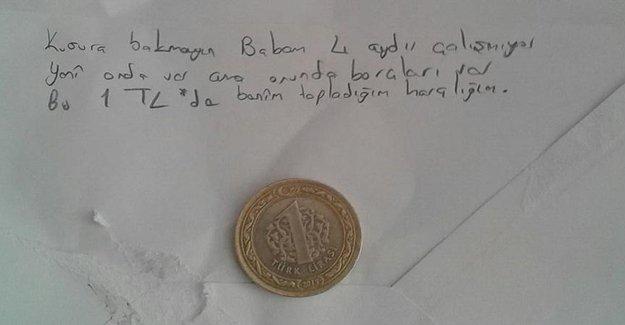 1 Lira Bağışlayan Ebru 'Ayın Öğrencisi' Seçildi