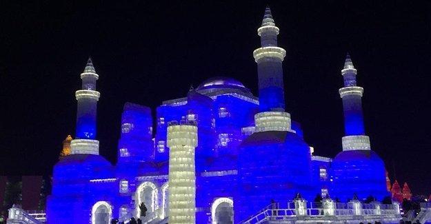 Çin'de En Büyük Buz Festivali Yapıldı