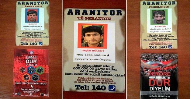 Dikkat Bu PKK'lılar Aranıyor