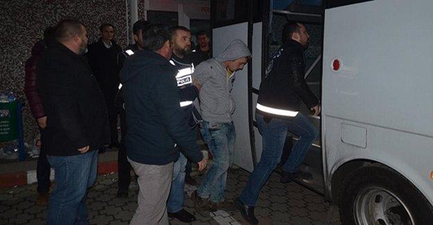 Gözaltına Alınan 13 Şüpheliden 8'i Tutuklandı