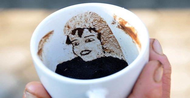 Kahve Telvesinden Resim Yapmak