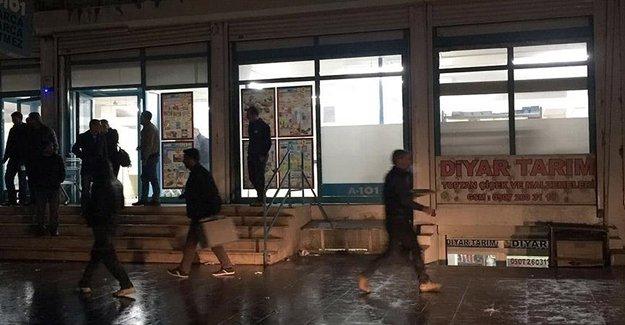 PKK'lılar Markete Molotoflu Saldırı Yaptı