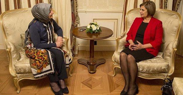 Sare Davutoğlu, Akıncı'yla Görüştü