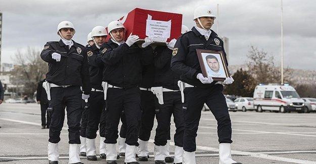 Şehit Polis İçin Ankara'da Tören Düzenlendi