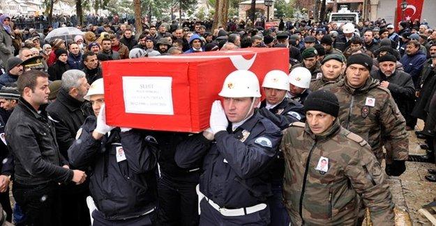 Şehit Polis Memuru Ebediyete Uğurlandı
