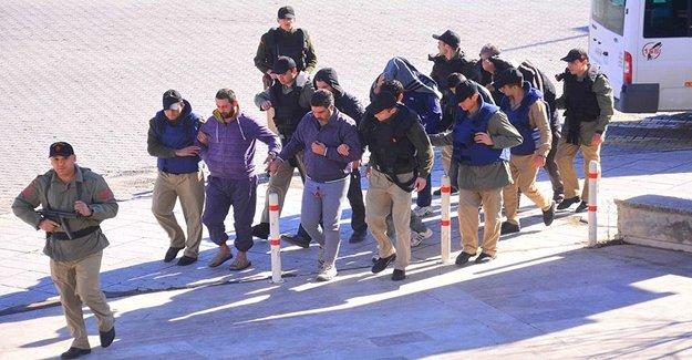 Suriye Uyruklu Dokuz Kişi Tutuklandı