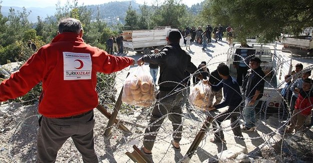 Türk Kızılay Mazlumlara Yardım Etti