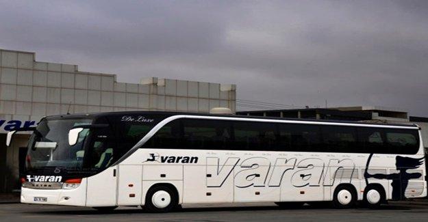 Varan Otobüs Seferlerini Durdurdu