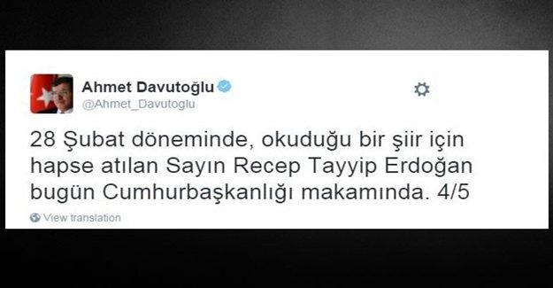 Davutoğlu'ndan 28 Şubat Mesajı
