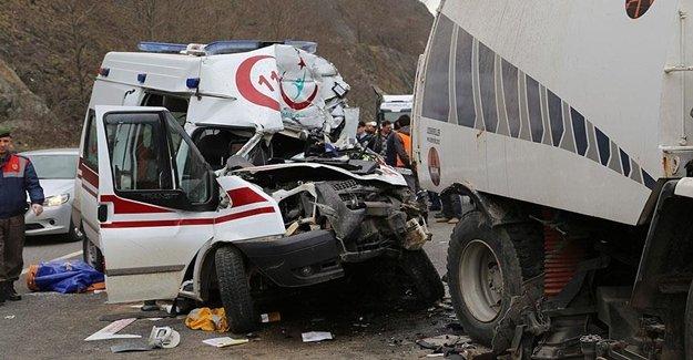 Ordu'da Feci Ambulans Kazası Yaşandı