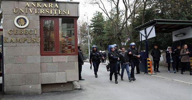 Cebeci Kampüsü'nde 13 Gözaltı
