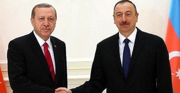 Cumhurbaşkanı Erdoğan Mevkidaşı Aliyev İle Görüştü