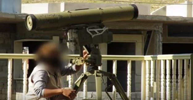 IŞİD Başika Kampında Türk Tankını Vurdu