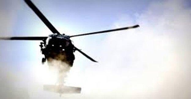 Kamışlı'da Helikopter Düştü!