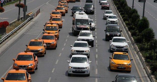 Taksicilerden 500 Araçlık Binali Yıldırım Konvoyu