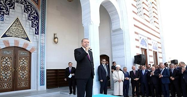Erdoğan Yeni Açılan Camiye Yıldırım Bayezid İsmini Verdi