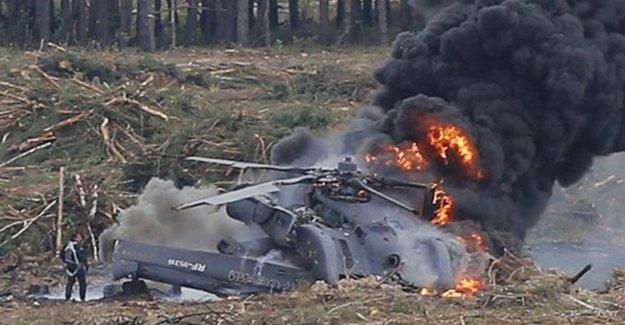 Karadağ'da Askeri Helikopter Düştü