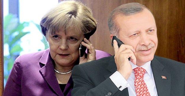 Erdoğan İle Merkel Telefonla Görüştü