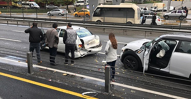 Saat 09:05'de arkadan gelen araç çarptı