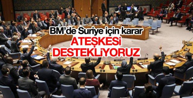 BM'den Suriye'de ateşkes için destek kararı