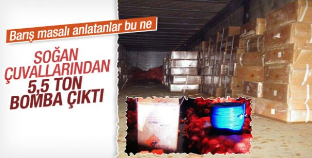 5.5 ton bomba yüklü TIR ele geçirildi