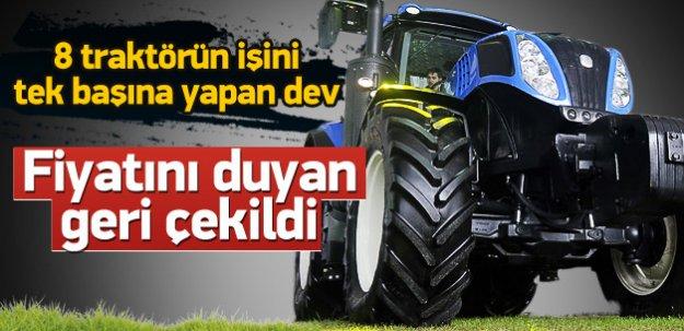 8 traktörün yaptığı işi tek başına yapan dev!