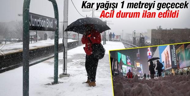 Kar fırtınası nedeniyle acil durum ilan edildi