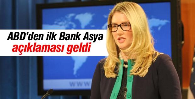 ABD Dışişleri Sözcüsü'nden Bank Asya açıklaması