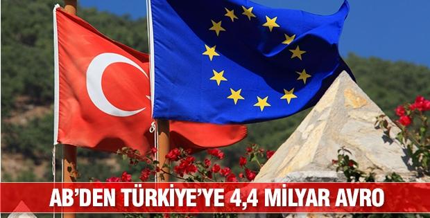 AB'den Türkiye'ye 4,4 milyar avro destek