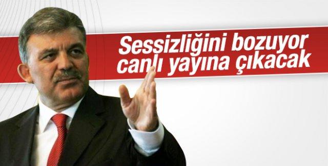 Abdullah Gül canlı yayına çıkacak