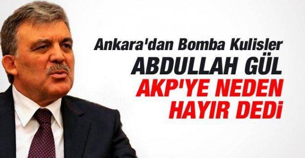 Abdullah Gül'e Şimdilik 'Hayır' Dedirten 7 Detay