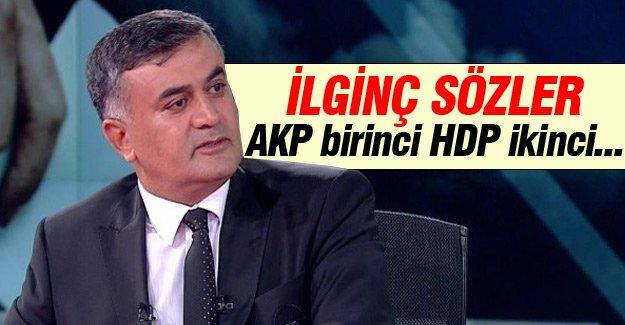 Adil Gür: AKP birinci HDP ikinci…