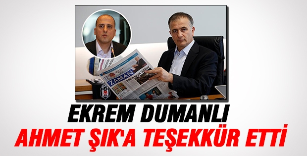 Ahmet Şık'a Teşekkür