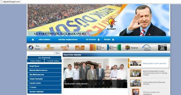 Ak Parti İnegöl Örgütü İnternet Sitesine Siber Saldırı