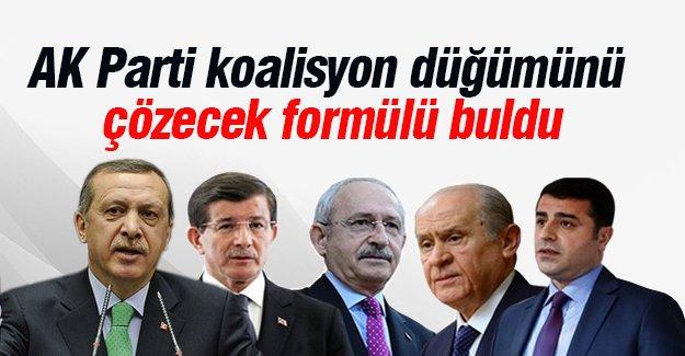 AK Parti koalisyon formülünü buldu