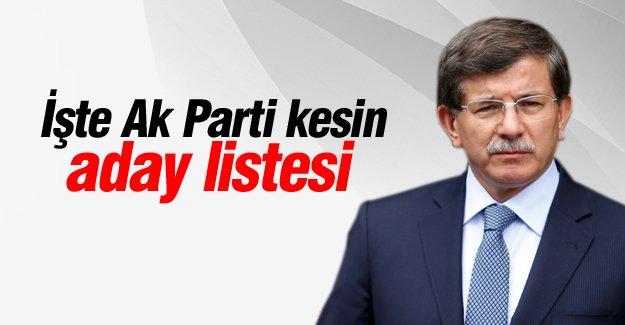 Ak Parti Milletvekili Adayları Listesi Belli Oldu!
