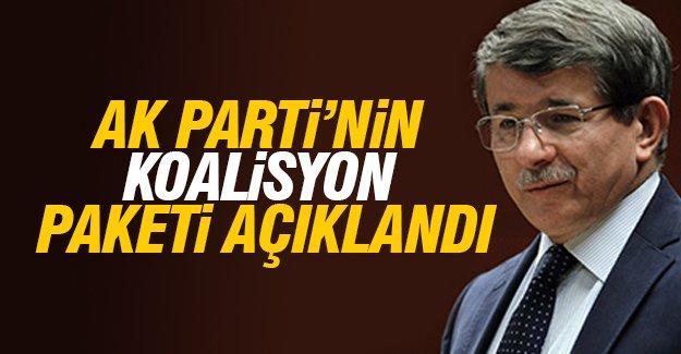 AK Parti'nin koalisyon paketi açıklandı