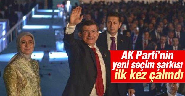 AK Parti'nin yeni seçim şarkısı ilk kez çalındı