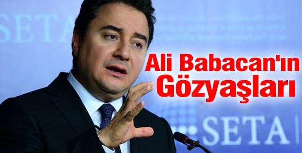 Ali Babacan'ın gözyaşları