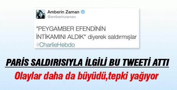 Amberin Zaman'ı öyle bir tweet attı ki!