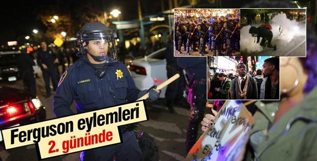 Amerika'da Ferguson eylemleri ikinci gününde