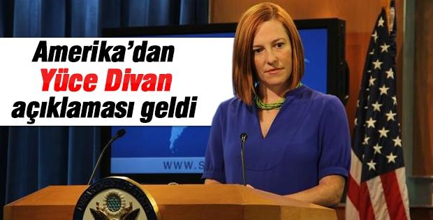 Amerika'dan 'Yüce Divan' açıklaması geldi