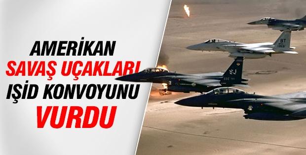 Amerikan savaş uçakları IŞİD konvoyunu vurdu