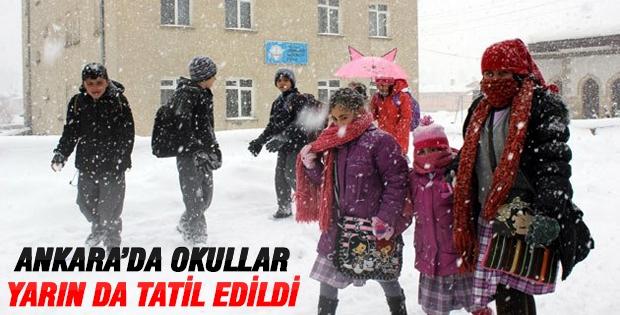 Ankara'da okullar yarın da tatil!