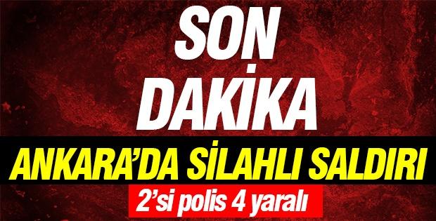 Ankara'da silahlı saldırı: 2'si polis 4 yaralı